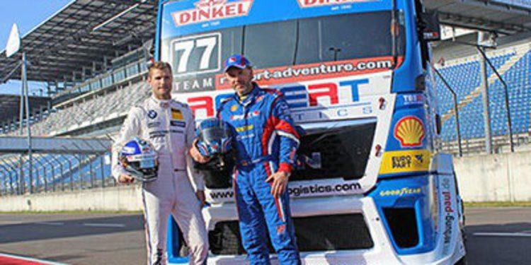 Martin Tomczyk prueba un camión de carreras