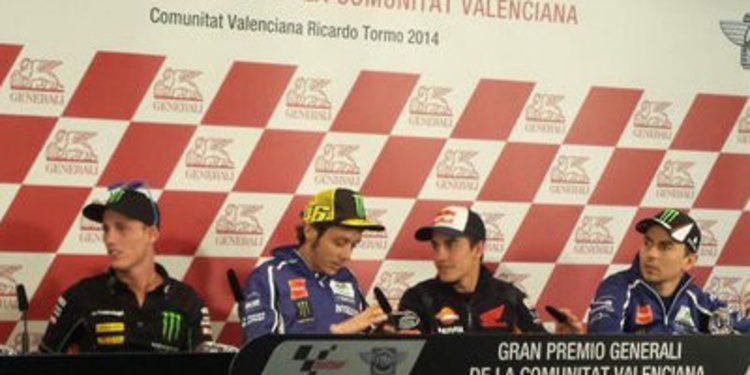 Rueda de prensa del GP de Valencia de MotoGP 2014