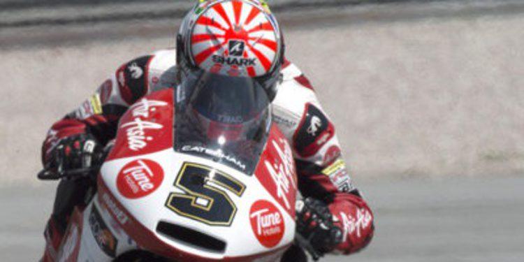 Caída y mejor tiempo del FP2 para Johann Zarco en Moto2