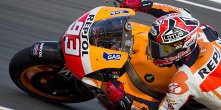 Márquez domina con caída el FP3 de MotoGP en Cheste