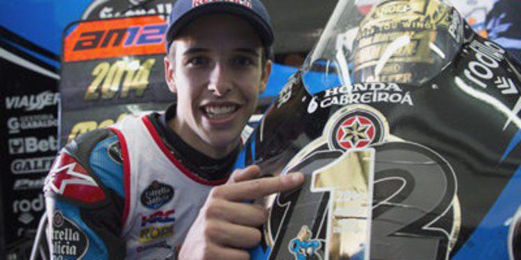 Palabras, números y video del campeón Alex Márquez