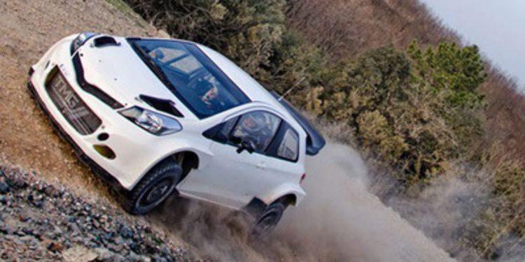 El test de 'jovenes pilotos' de Toyota con el Yaris WRC