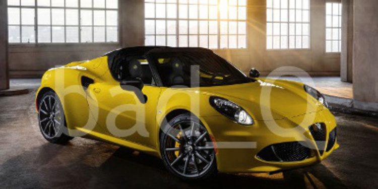 Imágenes oficiales filtradas del Alfa Romeo 4C Spider