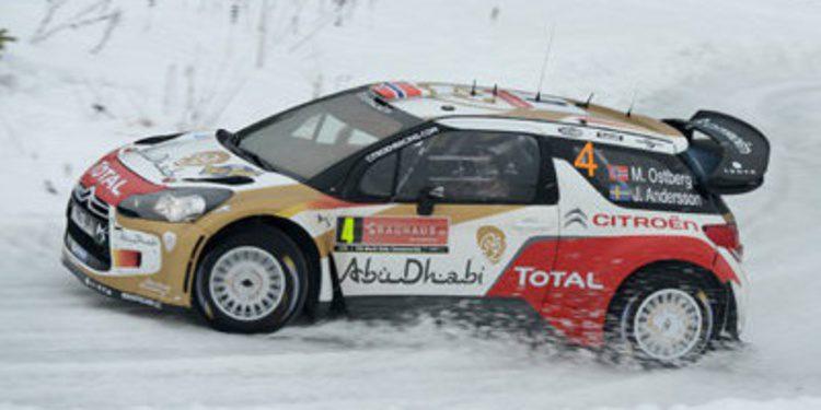 Mads Ostberg en el Rally Finnskog con el DS3 WRC