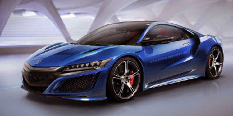 Primeros renders del Honda NSX en versiones targa y Type-R