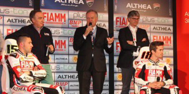 Presentación del equipo Althea Racing con Nico Terol