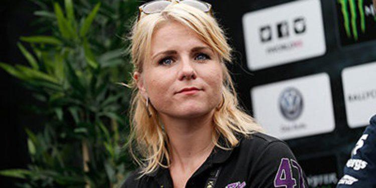 Ramona Karlsson en el World RX con un Scirocco Mk3