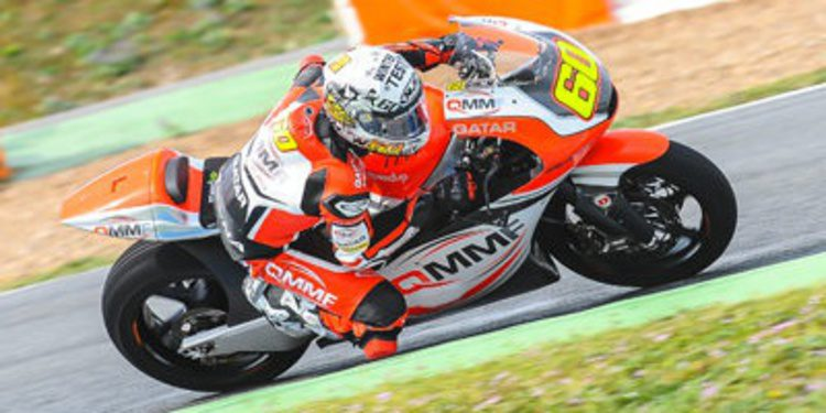 Simón y Antonelli mandan en el test de Jerez a pesar de la lluvia