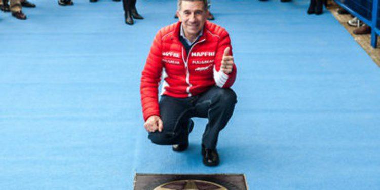 Jorge Martínez Aspar en el Paseo de la Fama de Jerez