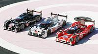 Blanco rojo y negro para Porsche en Le Mans
