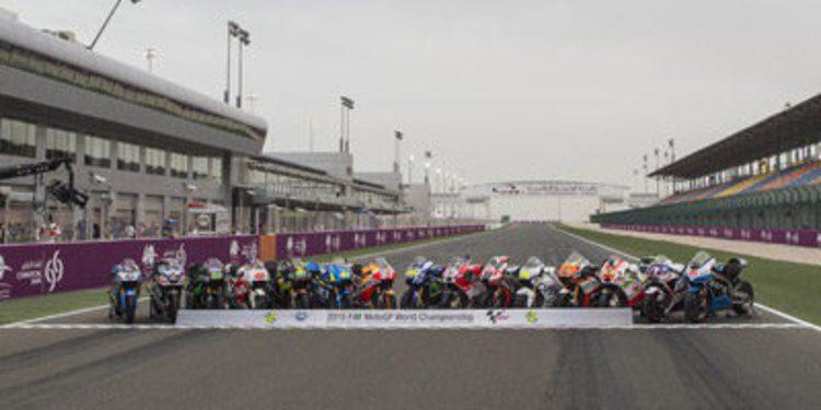 Foto de familia para MotoGP, Moto2 y Moto3 en Losail