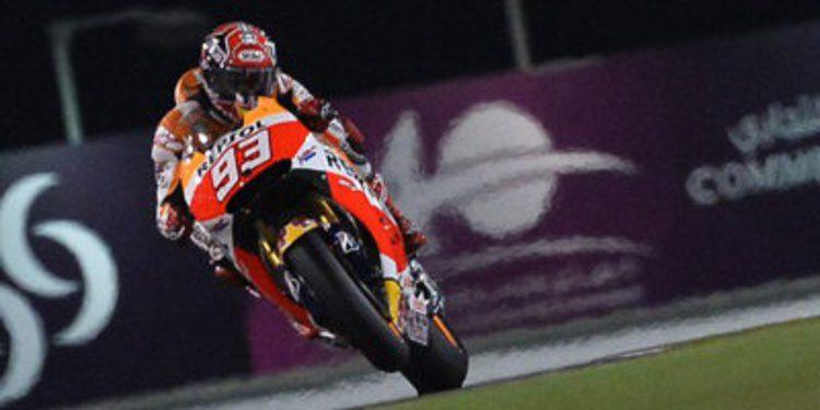 Pleno de Marc Márquez en los tres primeros libres del GP de Catar