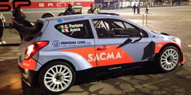 Corrado Fontana muestra el primer i20 WRC privado
