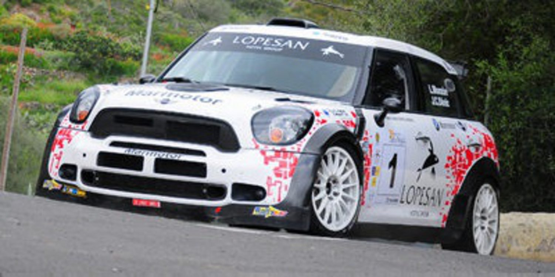 Luis Monzón con el Mini JCW RRC en el Rally Villa de Adeje