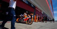 Neumáticos protagonistas en el warm up de MotoGP