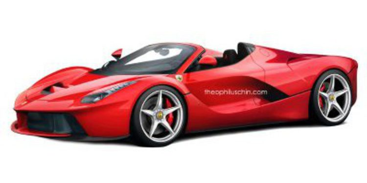 Versión spider renderizada del hiperdeportivo híbrido Ferrari LaFerrari