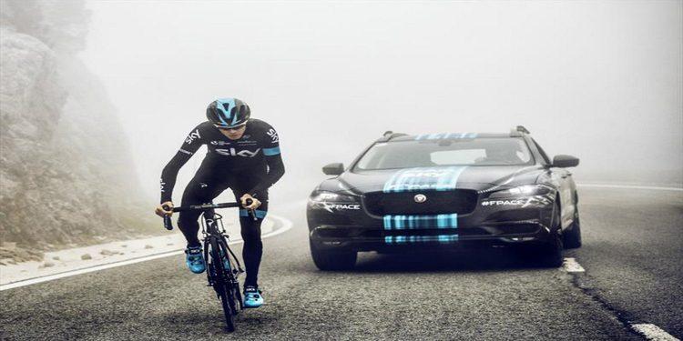 El Jaguar F-PACE en el Tour de Francia con el Team Sky