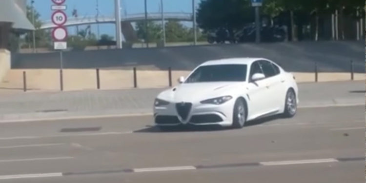 El nuevo Alfa Romeo Giulia, de paseo por Barcelona