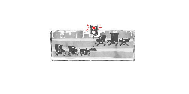 Google celebra el 101 aniversario de la instalación del primer semaforo