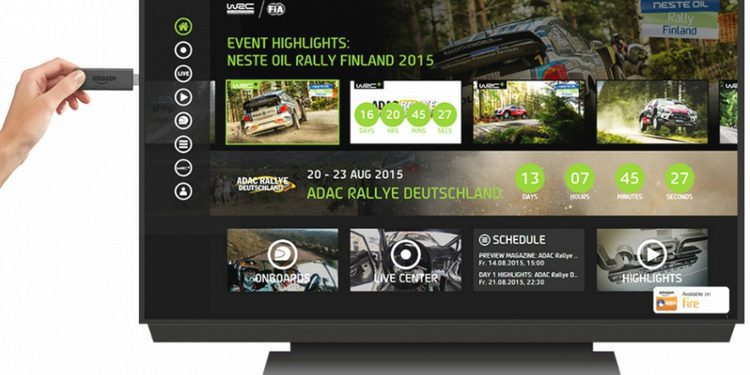 Nuevo lanzamiento de la App oficial del WRC para SmartTV