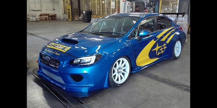 Epicos azul y amarillo para el Subaru de las TCR