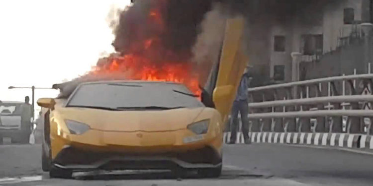 Lamborghini Aventador. Fuego en Dubai y Suecia