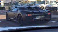 El Bugatti Chiron al descubierto sin camuflaje