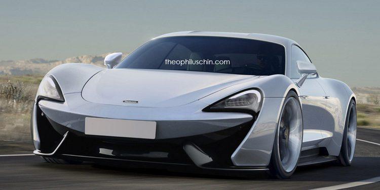 Berlina deportiva McLaren 570S 4 puertas en render