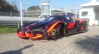 Un Ferrari FXX se estrella en el circuito Monza