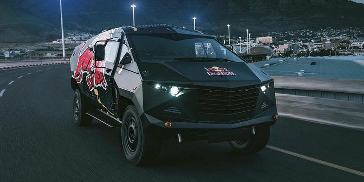 Red Bull revela Land Rover inspirado en Jet F-22 Raptor
