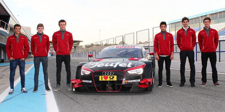 Los jóvenes pilotos impresionados con el Audi RS 5 DTM