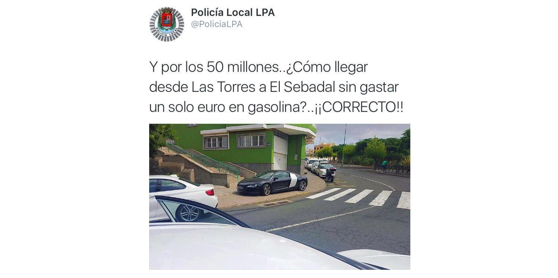 Los geniales tweets de la Policía Local de Las Palmas de Gran Canaria
