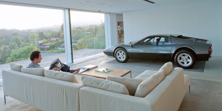 Espectaculares garajes integrados en el propio interior de las viviendas