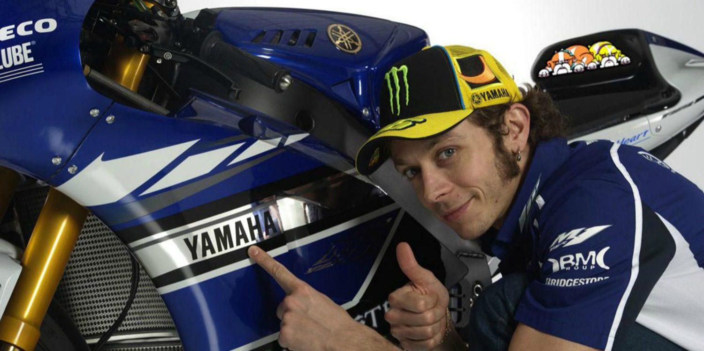 Valentino Rossi llevará el merchandising de Yamaha