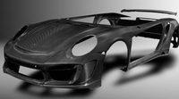 Carrocería de carbono para el Porsche 911 Turbo del preparador TopCar