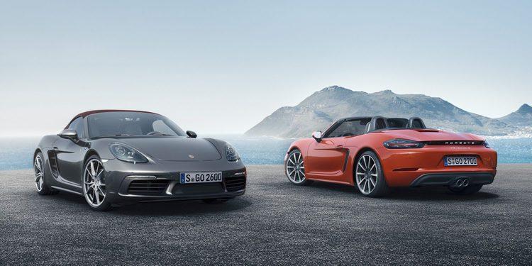 Nuevo Porsche 718 Boxster, ahora con motores de 4 cilindros y hasta 350 CV