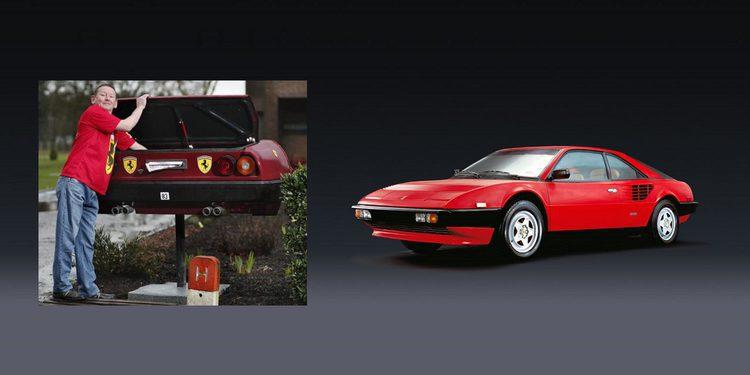 Un belga convierte su Ferrari Mondial en un buzón