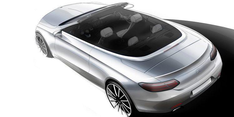 Mercedes-Benz publica un primer boceto del futuro Clase C Cabriolet