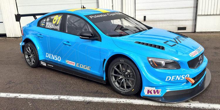 Fredrik Ekblom prueba el Volvo TC1 en Knustorp
