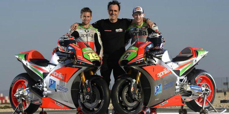 Presentada la Aprilia RS-GP 2016 de Moto GP