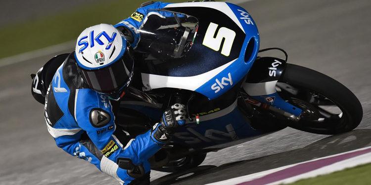 Fenati consigue la pole de moto3 en el último suspiro