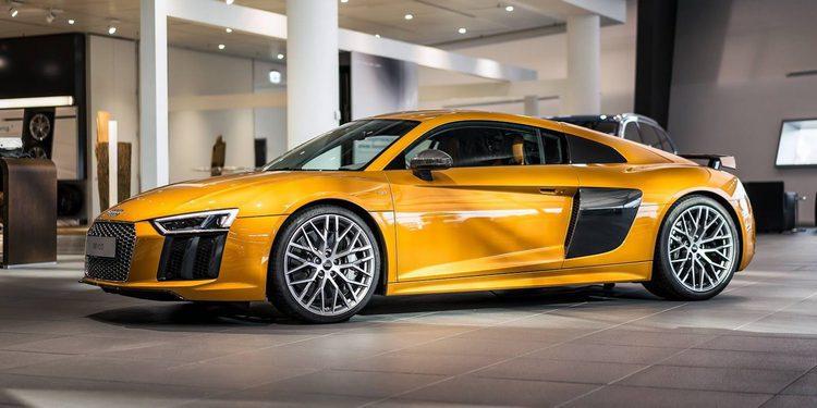Naranja efecto perla para el R8 V10 Plus de Audi Exclusive
