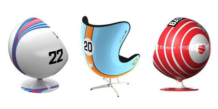 Mobiliario de diseño de inspiración racing