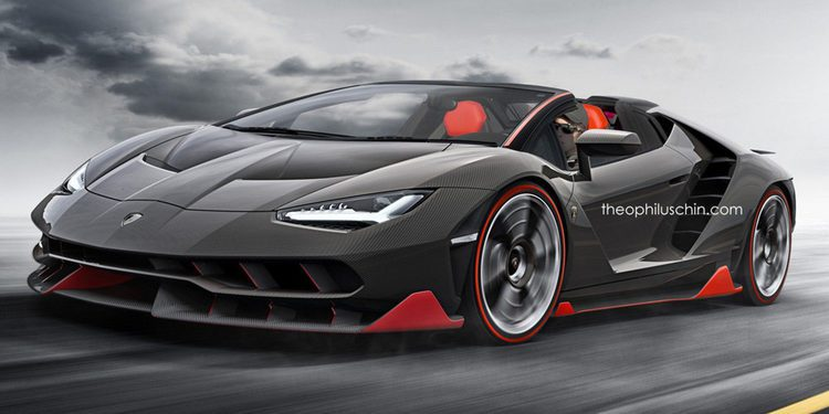 Primeros renders del Lamborghini Centenario Roadster