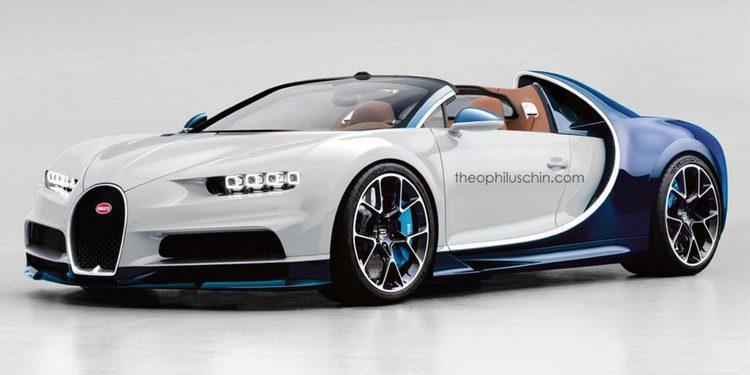Imaginando al futuro Bugatti Chiron Grand Sport, la versión targa