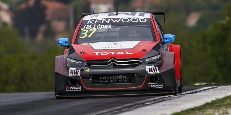 José María López domina una difícil carrera principal en Hungaroring