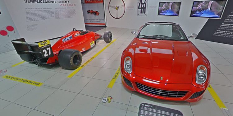 Visita virtual al museo Galleria Ferrari en Maranello
