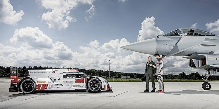 El Audi R18 e-tron quattro y el Eurofighter Typhoon, cara a cara