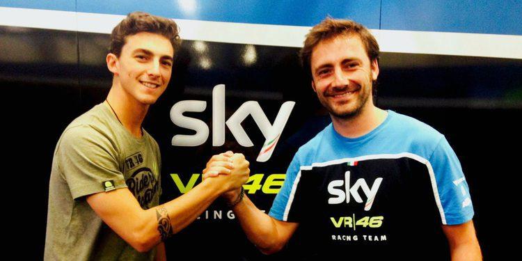 Pecco Bagnaia piloto del Sky Racing Team VR46 de Moto2 para 2017