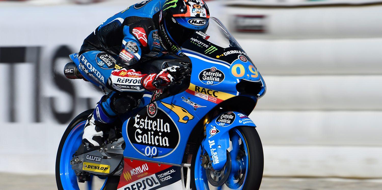 Jorge Navarro, el más rápido en el FP2 de Moto3
